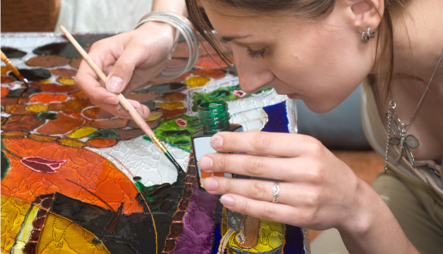 Certification in Glass Painting